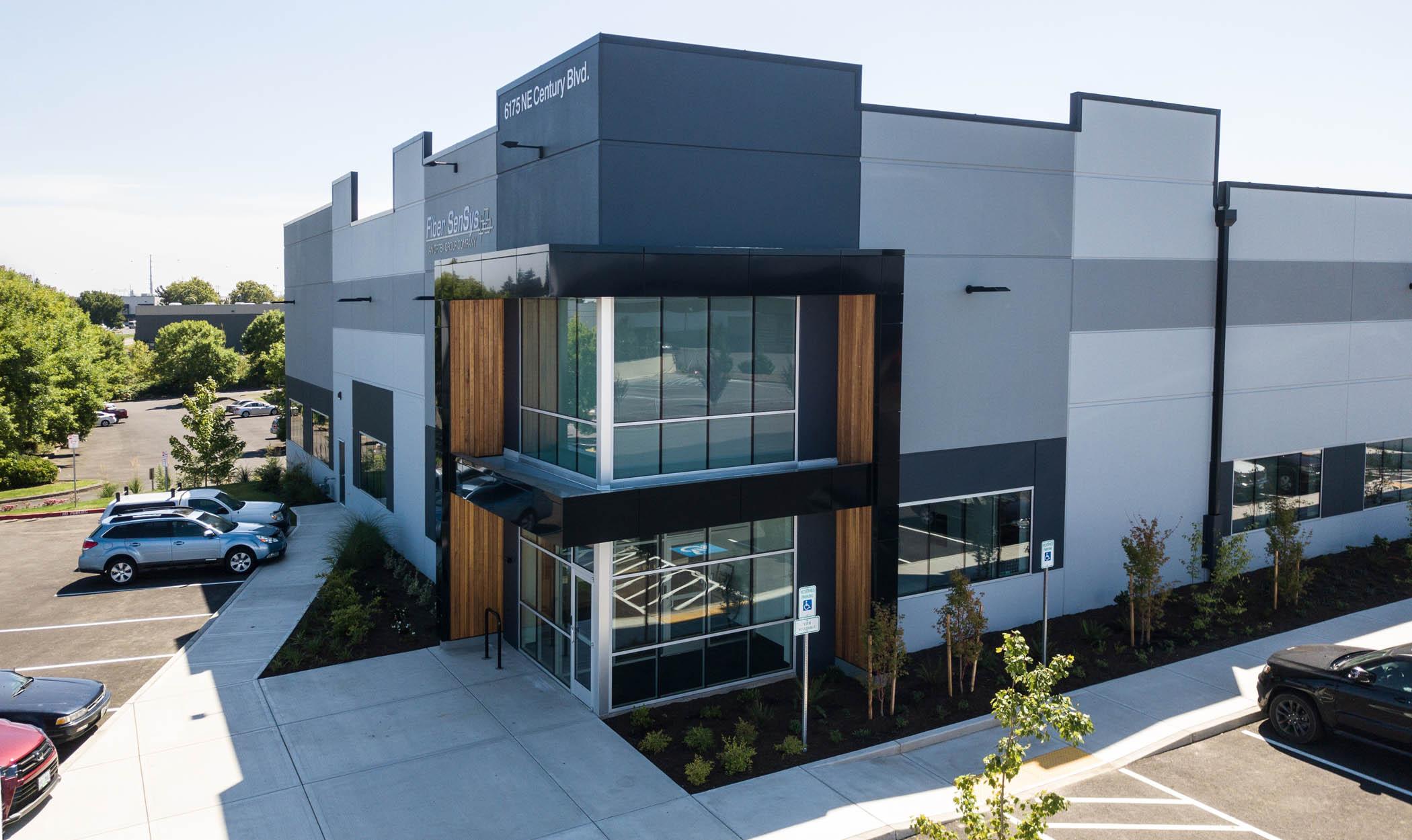 High Tech building construction Fiber SenSys exterior