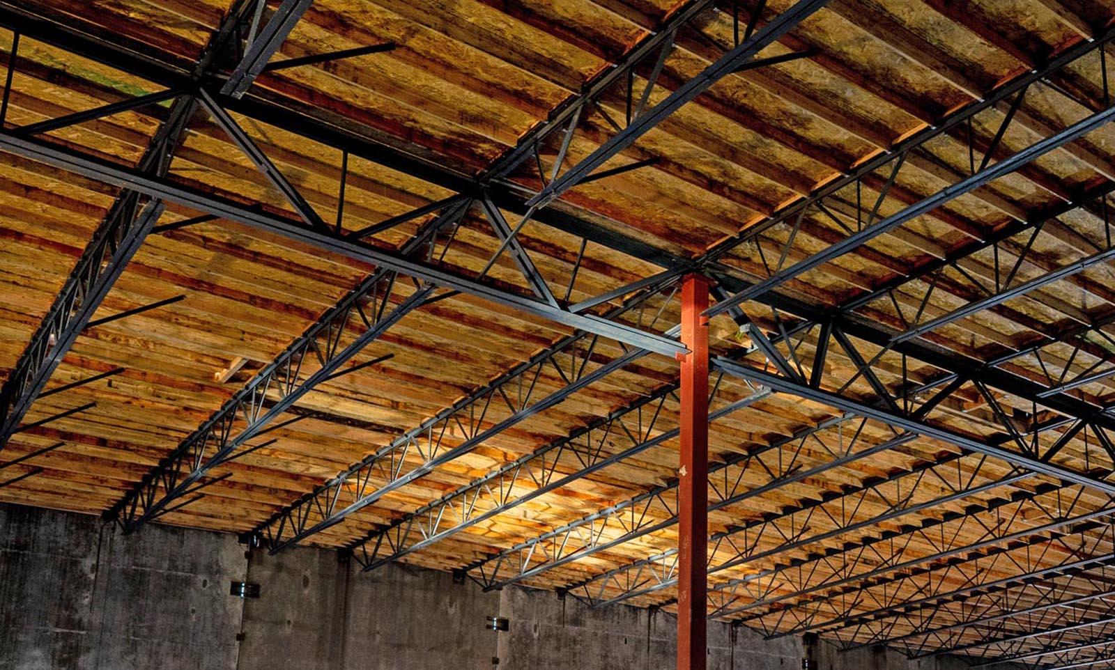 Hillsboro construction FiberSensys roof